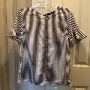 Banana Republic Black & white striped blouse